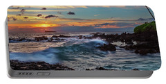 Portable Battery Charger featuring the photograph Maui Sunset At Secret Beach by John Hight