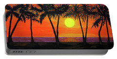 Maui Sunset Palm Trees Portable Battery Charger