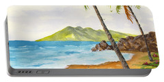 Portable Battery Charger featuring the painting Maui View by Darice Machel McGuire