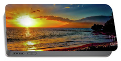 Maui Wedding Beach Sunset  Portable Battery Charger by Tom Jelen