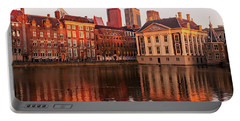 Portable Battery Charger featuring the photograph Mauritshuis And Hofvijver At Golden Hour - The Hague by Barry O Carroll