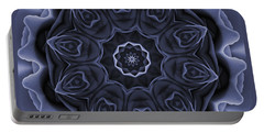 Mauve Rose Mandala Portable Battery Charger