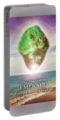 May Birthstone Emerald Portable Battery Charger