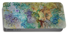 Portable Battery Charger featuring the painting May Flowers by Joanne Smoley