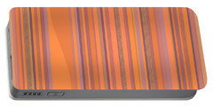 May Morning Vertical Stripes Portable Battery Charger by Val Arie