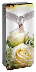 May Peace Be With You Portable Battery Charger by Maria Urso
