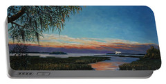 May River Sunset Portable Battery Charger by Stanton Allaben