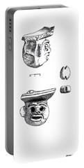 Maya Ceramic Head Portable Battery Charger