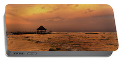 Mayan Sunset Portable Battery Charger by Dennis Hedberg