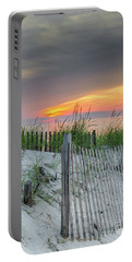 Portable Battery Charger featuring the photograph Mayflower Beach by Mike Ste Marie