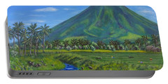 Mayon Volcano Portable Battery Charger