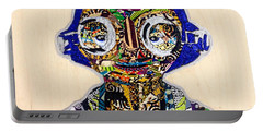 Portable Battery Charger featuring the tapestry - textile Maz Kanata Star Wars Awakens Afrofuturist Colection by Apanaki Temitayo M