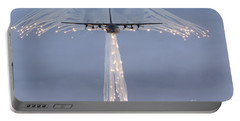 Mc-130h Combat Talon Dropping Flares Portable Battery Charger