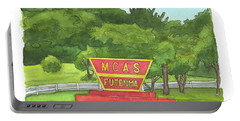 Portable Battery Charger featuring the painting Mcas Futenma Welcome Sign by Betsy Hackett
