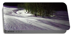 Portable Battery Charger featuring the photograph Mccauley Evening Snowscape by David Patterson