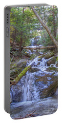 Portable Battery Charger featuring the digital art Mcconnells Mill Rock Falls Winter  by Randy Steele