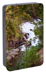 Portable Battery Charger featuring the photograph Mcdonald Creek 4 by Marty Koch