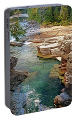 Portable Battery Charger featuring the photograph Mcdonald Creek 6 by Marty Koch