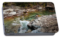 Portable Battery Charger featuring the photograph Mcdonald Creek 7 by Marty Koch