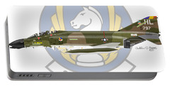 Mcdonnell Douglas F-4d Phantom II Hill Portable Battery Charger by Arthur Eggers