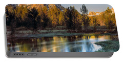 Mcgown Peak Sunrise  Portable Battery Charger by Leland D Howard