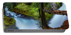 Portable Battery Charger featuring the photograph Mckenzie River From Sahalie Falls by Cat Connor