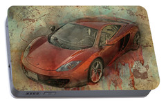Portable Battery Charger featuring the photograph Mclaren Graffiti by Joel Witmeyer