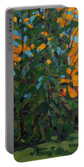 Mcmichael Forest Wall Portable Battery Charger by Phil Chadwick