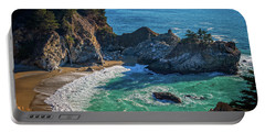 Mcway Falls Julia Pfieffer State Park Portable Battery Charger by James Hammond