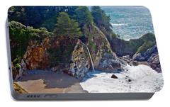 Portable Battery Charger featuring the photograph Mcway Falls by Suzanne Stout