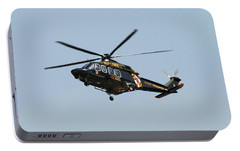 Portable Battery Charger featuring the photograph Md State Police Helicopter by Robert Banach