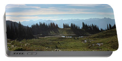 Meadow Mountain View Portable Battery Charger by Cathie Douglas