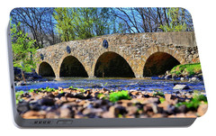 Portable Battery Charger featuring the photograph Meadows Road Bridge by DJ Florek