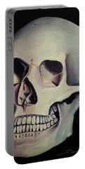Portable Battery Charger featuring the painting Medical Skull  by James Christopher Hill