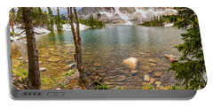 Medicine Bow Snowy Mountain Range Lake View Portable Battery Charger