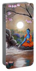 Medicine Buddha By A Waterfall Portable Battery Charger