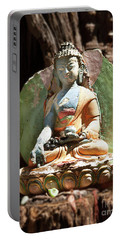 Portable Battery Charger featuring the photograph Medicine Buddha With Offerings by Carol Lynn Coronios