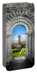 Medieval Arch And High Cross, County Clare, Ireland Portable Battery Charger