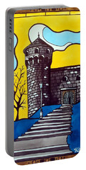 Portable Battery Charger featuring the painting Medieval Bastion -  Mace Tower Of Buda Castle Hungary By Dora Hathazi Mendes by Dora Hathazi Mendes