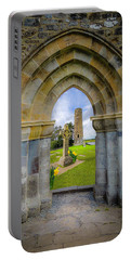 Portable Battery Charger featuring the photograph Medieval Irish Countryside by James Truett