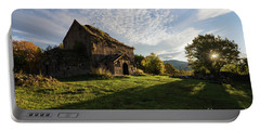 Medieval Tezharuyk Monastery During Amazing Sunrise, Armenia Portable Battery Charger