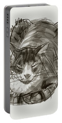 Meditating Cat Portable Battery Charger