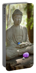 Portable Battery Charger featuring the photograph Meditation Buddha With Offerings by Carol Lynn Coronios