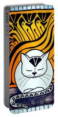 Meditation - Cat Art By Dora Hathazi Mendes Portable Battery Charger by Dora Hathazi Mendes