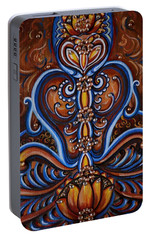 Portable Battery Charger featuring the painting Meditation by Harsh Malik