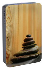 Portable Battery Charger featuring the photograph Meditation Stones by Heidi Hermes