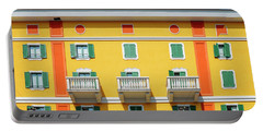 Mediterranean Colours On Building Facade Portable Battery Charger