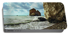Mediterranean Sea, Pebbles, Large Stones, Sea Foam - The Legendary Birthplace Of Aphrodite Portable Battery Charger