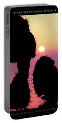 Mediterranean Sunrise Poster Portable Battery Charger