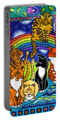 Meet Me At The Rainbow Bridge - Cat Painting Portable Battery Charger